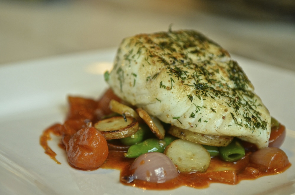 Dill Crusted Halibut
