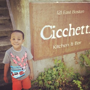 Sous Chef Tarik's nephew, our newest Cicchetti ambassador