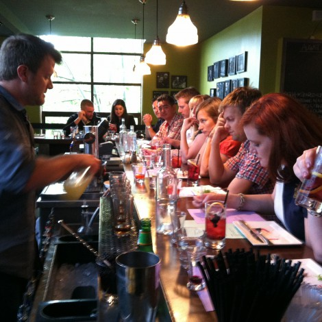 Bar Manager Jeremy Teaching Cocktail Class