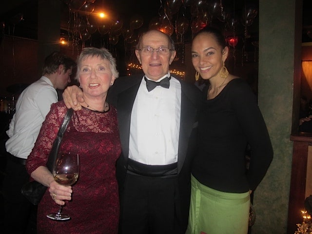 Carl, Roberta & Sarah on New Year's Eve