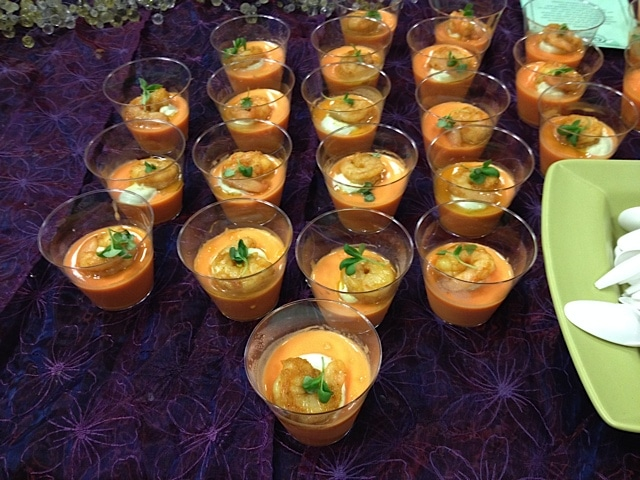 Carrot Panna Cotta with Poached Prawn