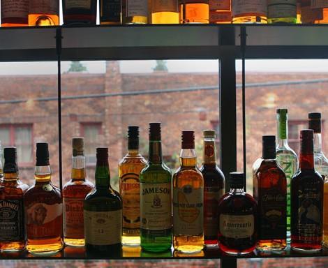 Cicchetti Bottles on Bar