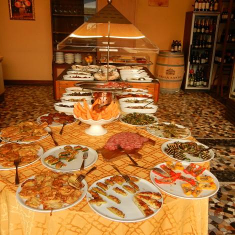 Antipasti Bar in Lake Como