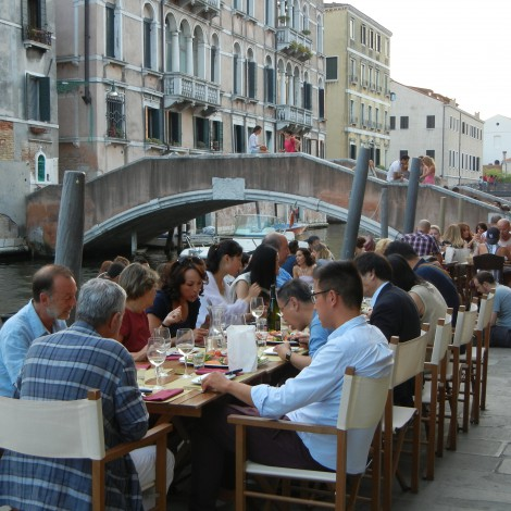Guests at a Cicchetti Bar in Venice