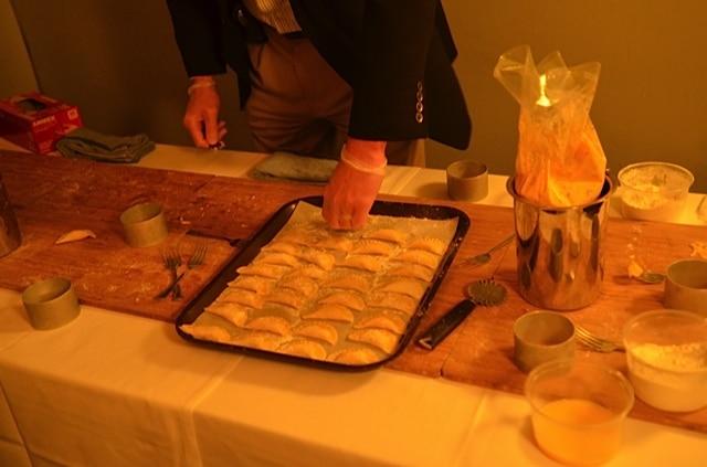Guests Making Squash Ravioli