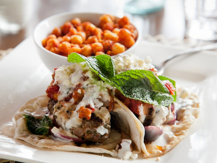 Lamb Kefta with Crispy Chickpeas