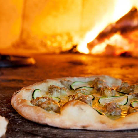 Pizza with Fennel Sausage & Zucchini