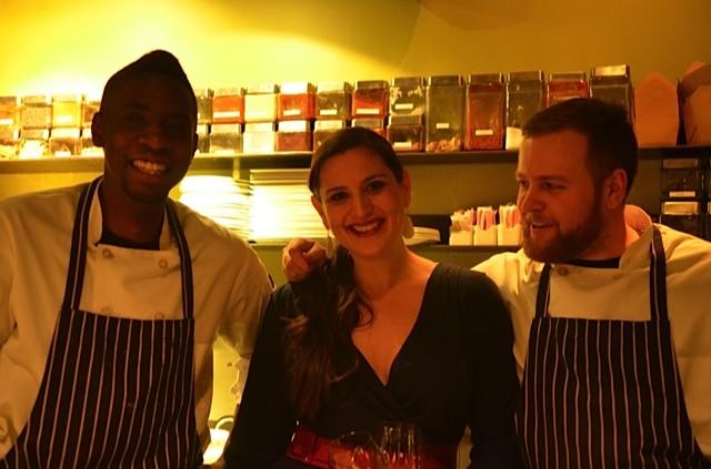 Tarik, Rachel & Nate at Veseth Dinner