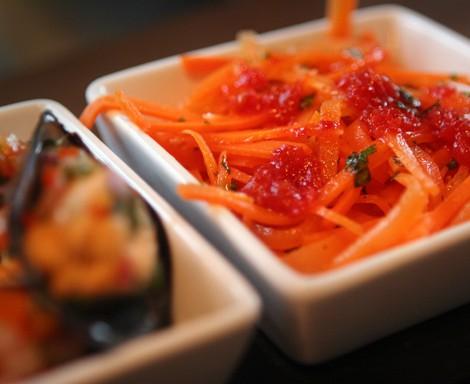 Harissa-spiced carrots