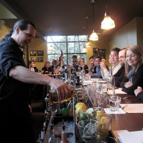 Chris Bollenbacher Teaching a Cocktail Class