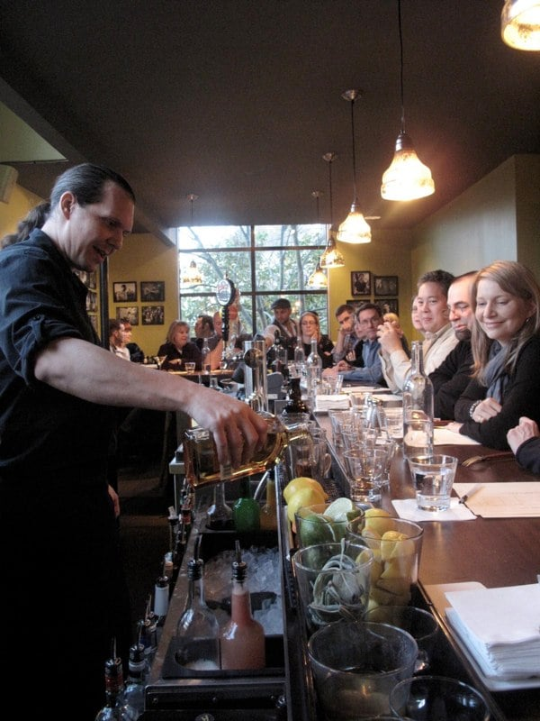 Chris Bollenbacher Teaching a Cocktail Class