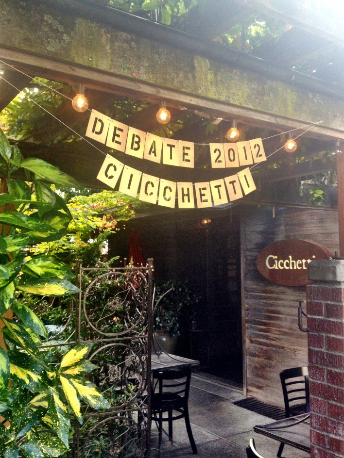 Debate Party at Cicchetti